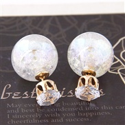 Peppers same paragraph : European style gorgeous flash diamond earrings beads wild temperament personality