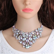 occidental style  flowers diamond necklace  fashion  all-Purpose pendant sweater chain