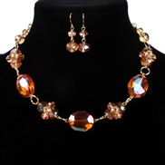 occidental style brief retro crystal necklace clavicle chain