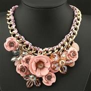 VDI occidental style fashion fashion exaggerating necklace  handmade braid flowers necklace woman