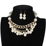 luxurious handmade diamond weave Pearl necklace clavicle chain  multilayer necklace