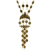 occidental style  luxurious temperament pattern coin tassel necklace set