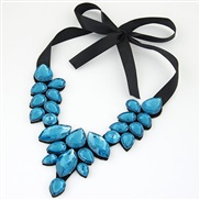 occidental style trend  all-Purpose Ladies temperament gem false collar temperament short style necklace