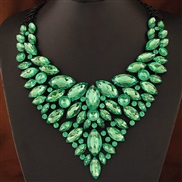 occidental style trend  Metal bright luxurious shine gem temperament collar exaggerating necklace