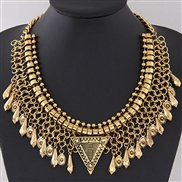 occidental style   Metal drop concise collar exaggerating necklace