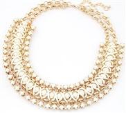 European and American fashion fluorescent color metal preparation temperament flash diamond gemstone necklace
