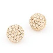 Korean fashion boutique sweet personality flash diamond earrings beads