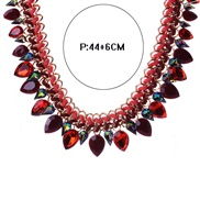 European and American big exaggerated fashion luxury crystal teardrop-shaped necklace