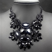 New winter retro black flower necklace ladies wild