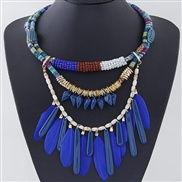 occidental style  trend  wind concise vertical feather all-Purpose temperament necklace
