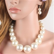 occidental style exaggerating necklace brief temperament型 Pearl short style clavicle chain