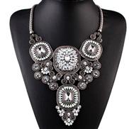 occidental style fashion all-Purpose brief diamond crystal gem Alloy retro necklace