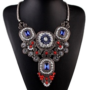 occidental style fashion all-Purpose brief diamond crystal gem Alloy retro necklace