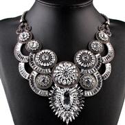 occidental style brief fashion all-Purpose luxurious diamond gem Alloy retro necklace