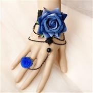 blue rose hollow lace...