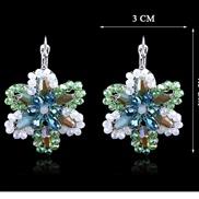 occidental style fashion pureSeiko production crystal flowers扣 Earring  earrings