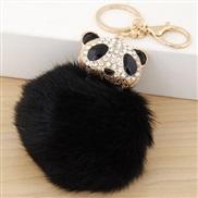 Korea cute little panda Nagymaros ball keychain