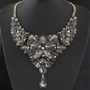 occidental style trend  Metal bright luxurious shine gem temperament necklace