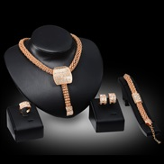 fashion four  occidental style earrings ring set