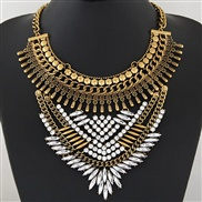 occidental style trend  Metal luxurious shine gem exaggerating collar temperament short style necklace