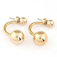 Korean fashion sweet personality OL compact size beads earrings