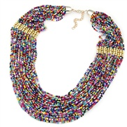 European and American fashion style Bohemian family name multi-layered beads necklace