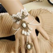 Vintage white lace br...