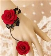Black Rose flower bra...