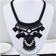 European and American big metal trend temperament exaggerated retro flash diamond necklace drops