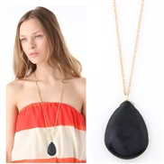 European and American fashion temperament long metal droplets elegant turquoise necklace
