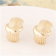 fine  Korean style fashion  sweetOL concise Metal personality ear stud