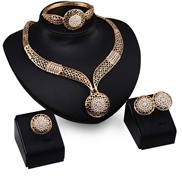 occidental style exaggerating set necklace earrings ring bracelet four set