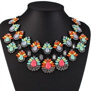 occidental style fashion  high-end luxurious  short style diamond necklace