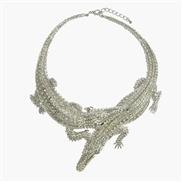occidental style fashion short style Alloy crocodile  diamond animal exaggerating necklace