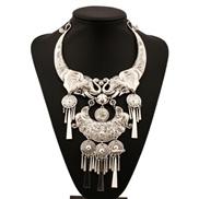 occidental style retro  fashion刻 pattern tassel elephant long necklace